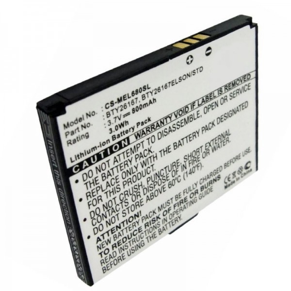 AccuCell batterie adapté pour Mobistel Elson EL680 batterie Li-ion 3.7 Volt, 800mAh