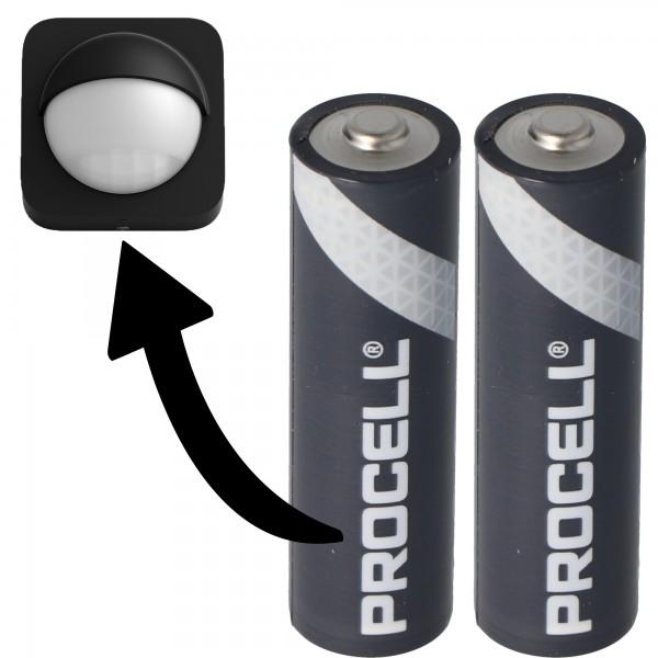 Batterie adaptée pour Philips HUE Motion Outdoor Sensor 2x Duracell Procell Alkaline LR06 Mignon AA