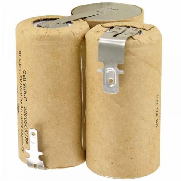 AccuCell batterie compatible avec Wolf Accu 60 type 7084680 batterie 3.6 Volt NiMH