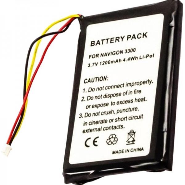 AccuCell batterie adaptée pour Navigon 3300, 3310, 3310 MAXE, 4310,