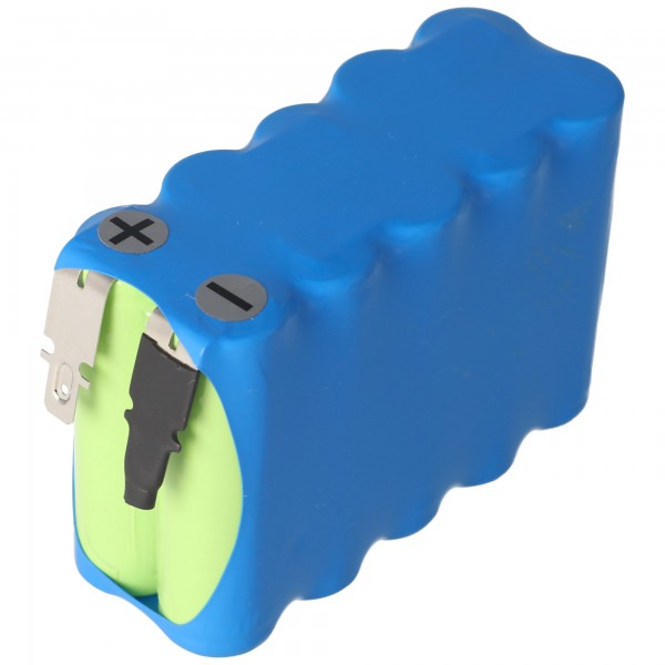 Batterie pour portes automatiques 12 Volt 900mAh NiCD avec contacts mâles 4.8mm