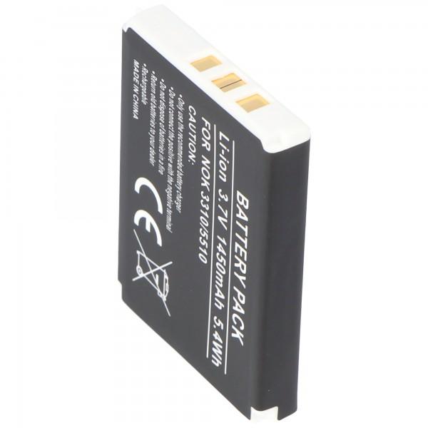 AccuCell batterie adaptée pour Nokia 3310 batterie 5510 batterie BMC-3