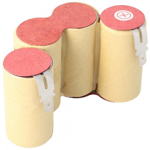 AccuCell batterie appropriée pour aspirateur, aspirateur à main 4,8 volts