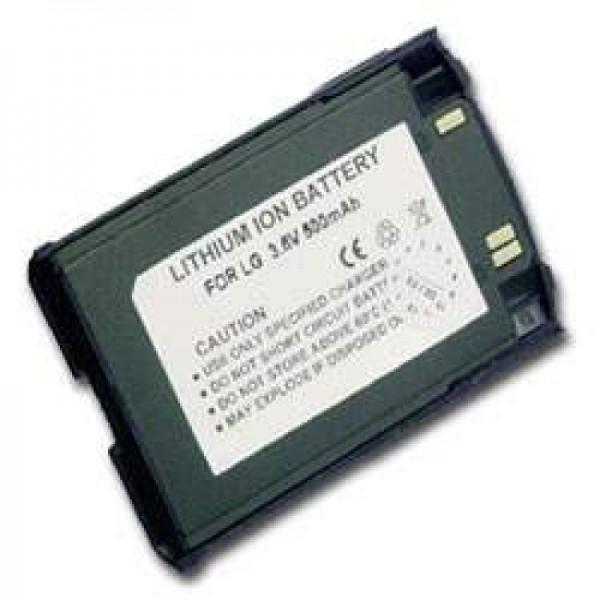 Batterie AccuCell pour LG 510W, 500mAh bleu foncé