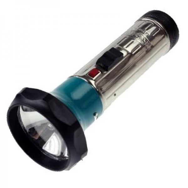 lampe torche classique en métal 172 x 70mm avec ampoule, pour 2 piles mono LR20
