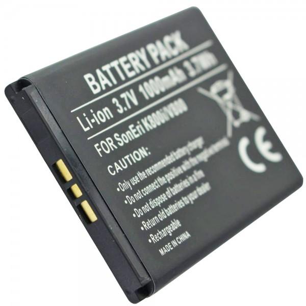 AccuCell batterie adaptéee pour Sony BST-33 batterie avec 1000mAh