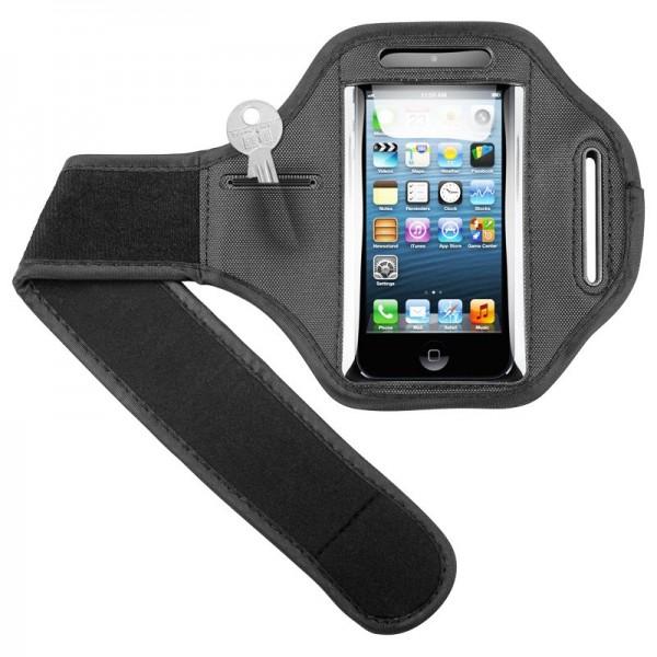 Sac de sport adapté à votre Apple iPhone 5, 5C, 5S avec sangle velcro pour le jogging et le fitness