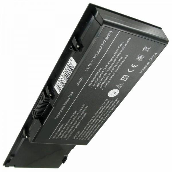 Batterie pour Dell Precision M6400, M6500 6600mAh