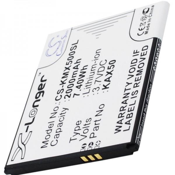 Batterie pour Kazam Trooper X5.0, batterie KAX50 3.7 Volt 2000mAh