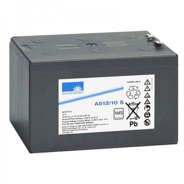 Batterie au plomb Sunshine Dryfit A512 / 10S, N ° VDS: G189231
