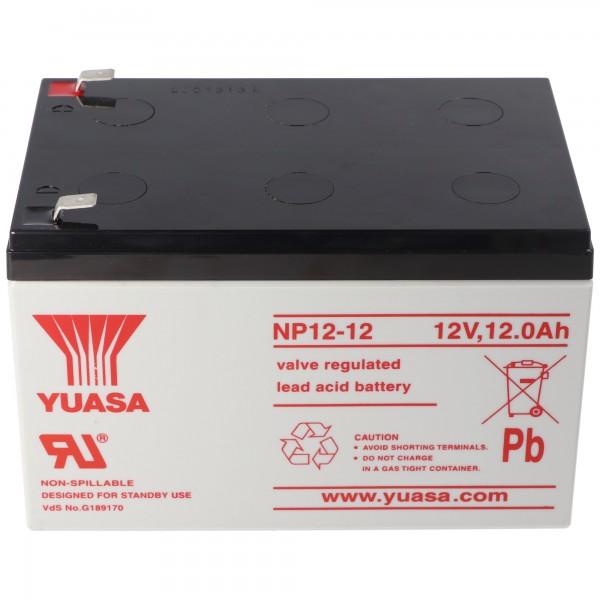 YUASA NP12-12 Batterie PB 12 Volt 12000mAh