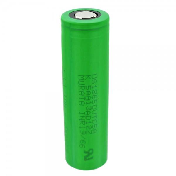 Sony Konion US18650VTC5A - 2600mAh, 3.6V - 3.7V min. 2500mAh puissance de sortie maximale de 35A (2600mAh) (Flat Top) avec boîte de batterie