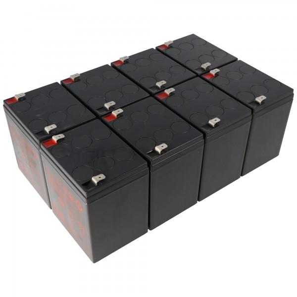 Batterie de remplacement pour APC RBC43 composée de 8 batteries