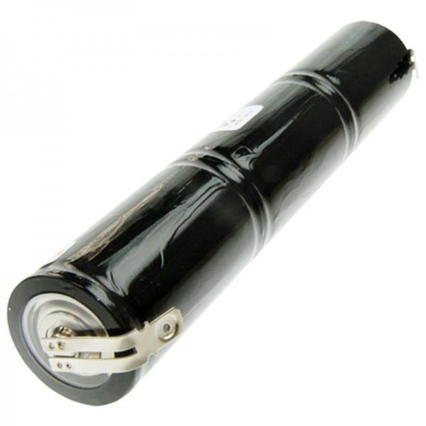 Batterie pour éclairage de secours, éclairage de secours 3,6 volts, 4000mAh avec contact de 6,3 mm et 4,8 mm