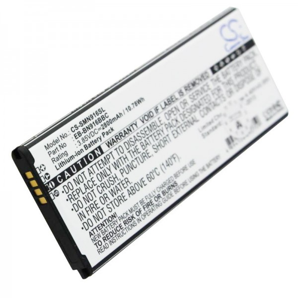 Batterie pour Samsung SM-N910 batterie Galaxy Note 4, 2800mAh