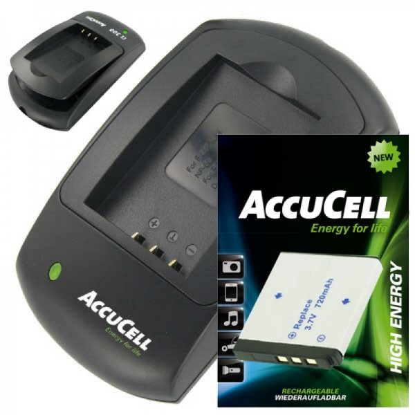 Chargeur AccuCell et batterie rechargeable pour Rollei XS-10 in Touch