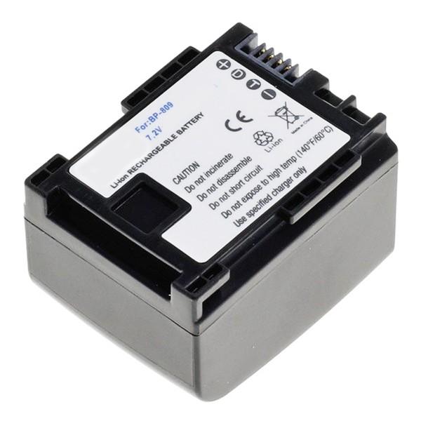 Batterie AccuCell pour Canon BP-809 avec affichage des minutes restantes