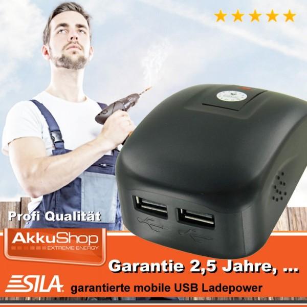 Adaptateur pour outil électrique USB SILA à 2 prises pour Dewalt DCB120, DCB121