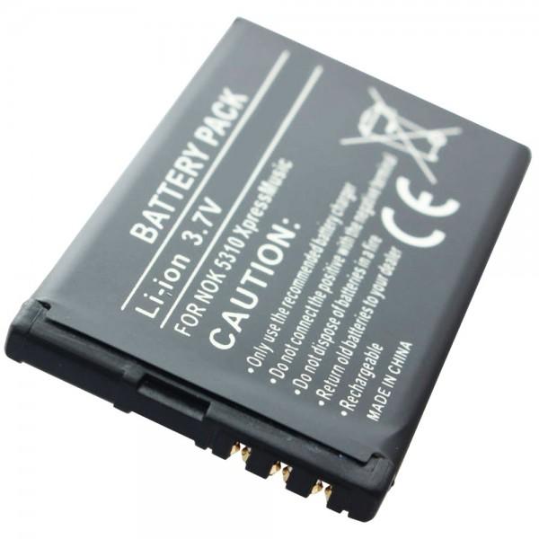 AccuCell batterie compatible avec la batterie Nokia BL-4CT Nokia 7310, 7230, 7210