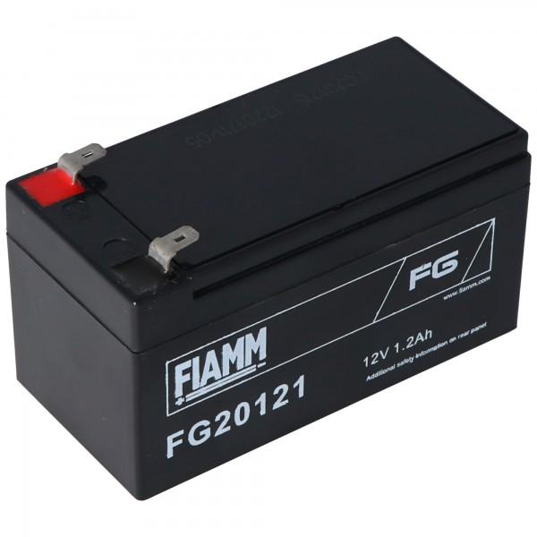 Fiamm FG20121 Batterie 1200mAh Batterie au plomb 12 volts avec 1200mAh, 2 fois contacts de 4,8mm