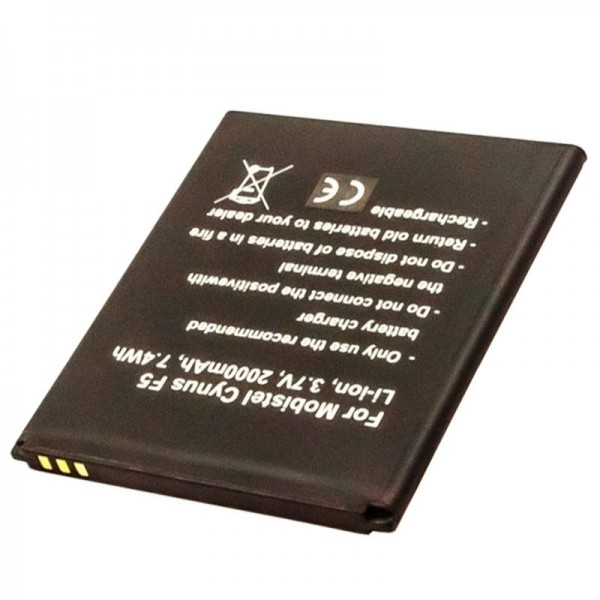 Batterie pour Mobistel Cynus F5 BTY26184, MT-8201B, MT-8201S, MT-8201W, 2000mAh