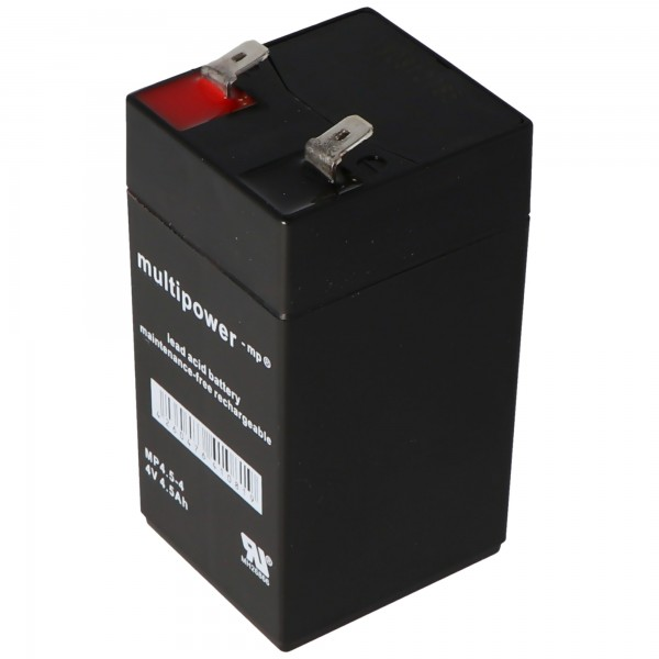 Batterie PB Multipower MP4.5-4, 4 contacts, 4500mAh, contacts 6.3mm
