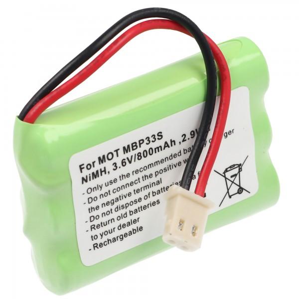 AccuCell batterie convient pour la batterie Motorola MBP30 TFL3X44AAA650-CD77-01B