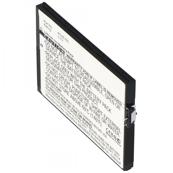 Batterie AccuCell pour HTC X7500, P / N ATHE160, 2200mAh