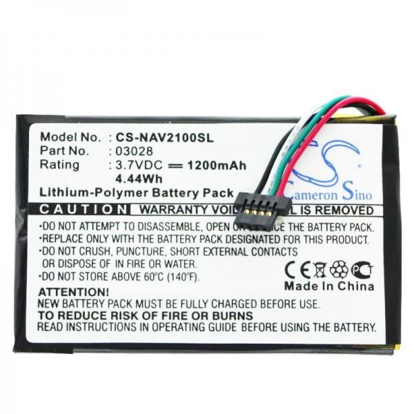 Batterie pour Navigon 2100 Max, 2110 Max, 2120, 2120 Max