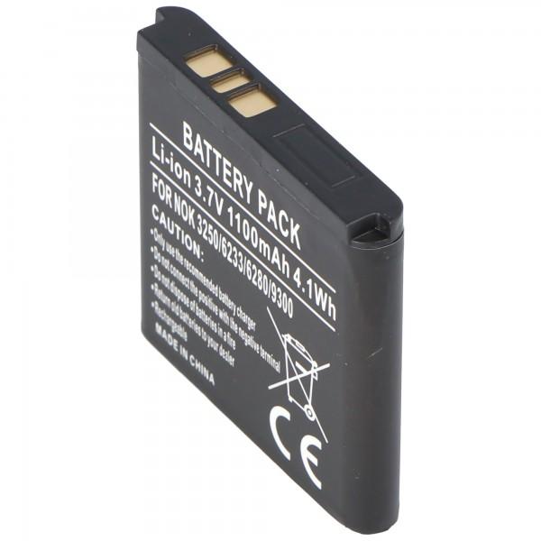 AccuCell batterie adaptée pour Nokia 9300 Communicator, BP-6M 600mAh