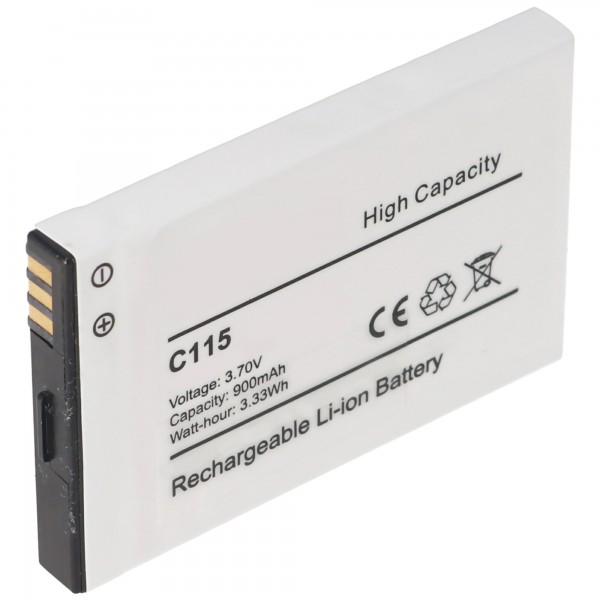 AccuCell batterie adaptée pour Motorola C115, C116, C155, Tchibo 202
