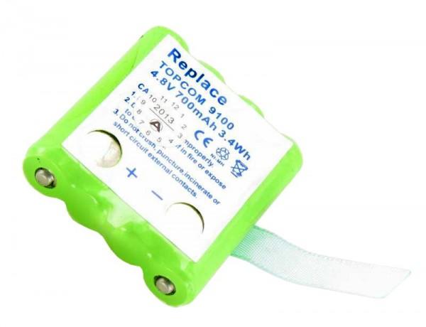 AccuCell batterie convient pour Topcom Twintalker 9100 batterie TT9100, mais pas de contact à l'arrière! S'il vous plaît donc nécessairement le B
