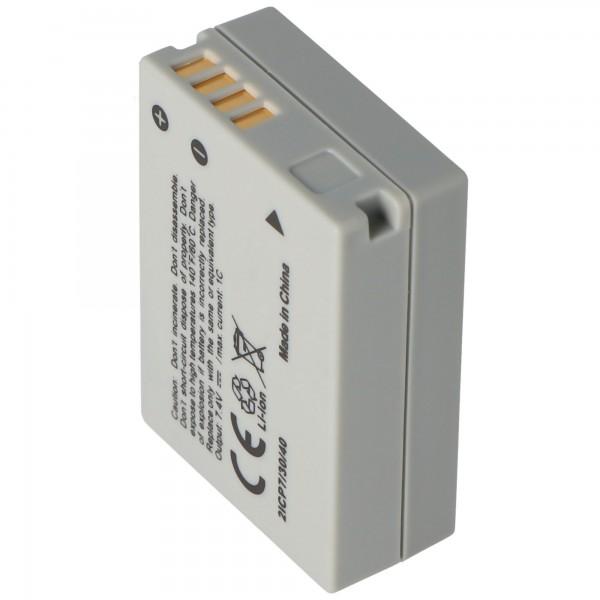 Batterie AccuCell pour Canon NB-10L, PowerShot SX40 HS, Li-Ion 7,4 volts, 750-950mAh dimensions 45,5x32,4x15,2mm