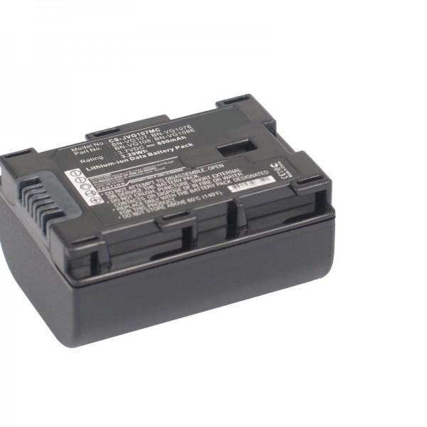Batterie de remplacement compatible Accu-Cell BN-VG107 avec 890 mAh