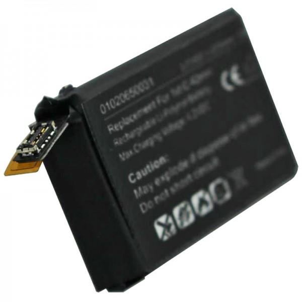 Batterie compatible pour Apple iWatch 42mm 1ère génération batterie Li-Polymer A1579, A1554, iWatch 1ère G 42mm, 3.8V 273mAh avec 1Wh