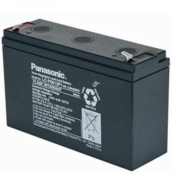 Batterie au plomb PB Panasonic LC-R0612P 6 volts, 12 Ah