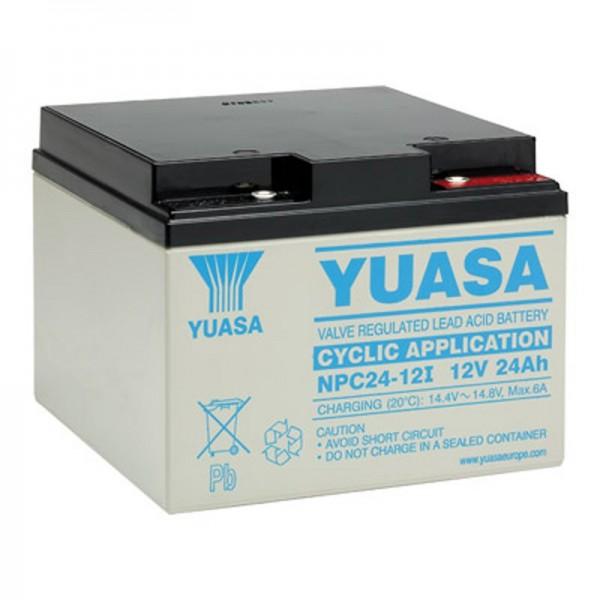 Batterie au plomb Yuasa NPC24-12I 12V, 24Ah