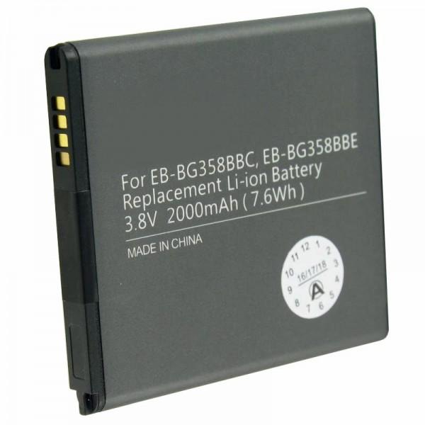Batterie pour Samsung Galaxy Core Prime, SM-G360F, EB-BG358BB 1800mAh