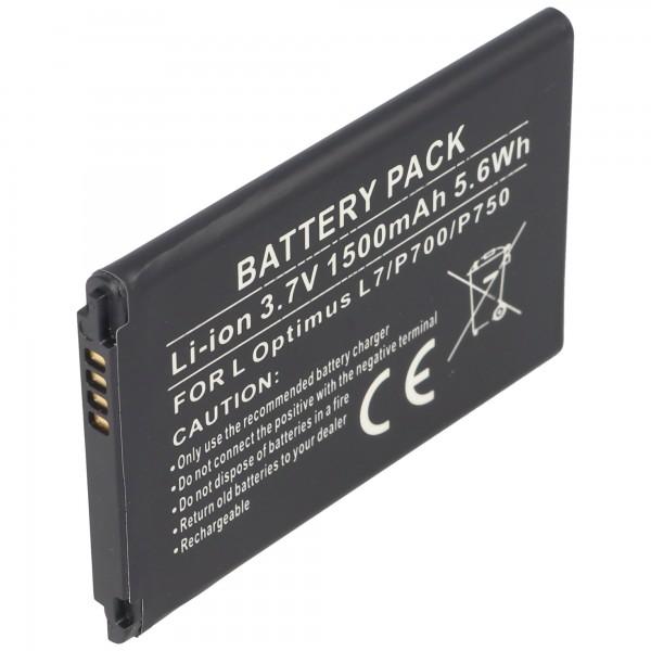 AccuCell batterie adaptée pour LG Optimus L7, Optimus P700, BL-44JH