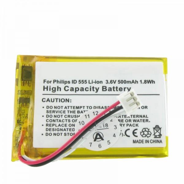 AccuCell batterie adapté à la batterie PHILIPS ID 555 Batterie SL-422943