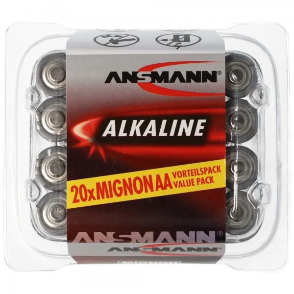 Ansmann RED Alkaline Mignon / LR06 Paquet de 20