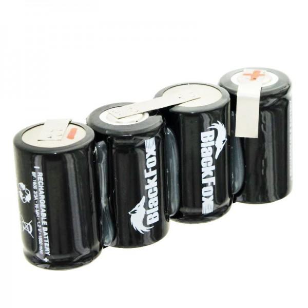 Batterie composée de 4x cellules 2 / 3A 1600mAh avec câble, sans prise