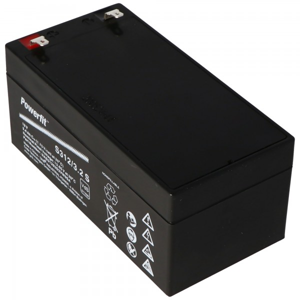 Batterie au plomb Exide Powerfit S312 / 3.2S, connexion 4.8mm, VDS