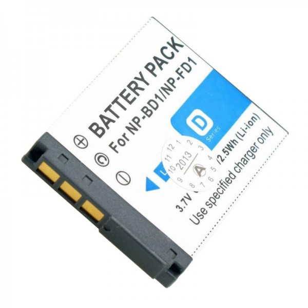 Batterie AccuCell pour Sony Cybershot DSC-T2, 750mAh