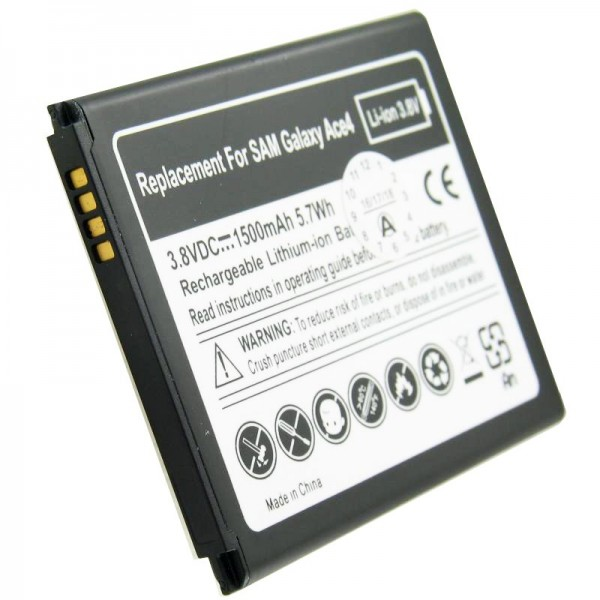Batterie pour Samsung EB-B130BE batterie Galaxy Ace 4, Galaxy Ace Style, SM-G310 à 4 contacts
