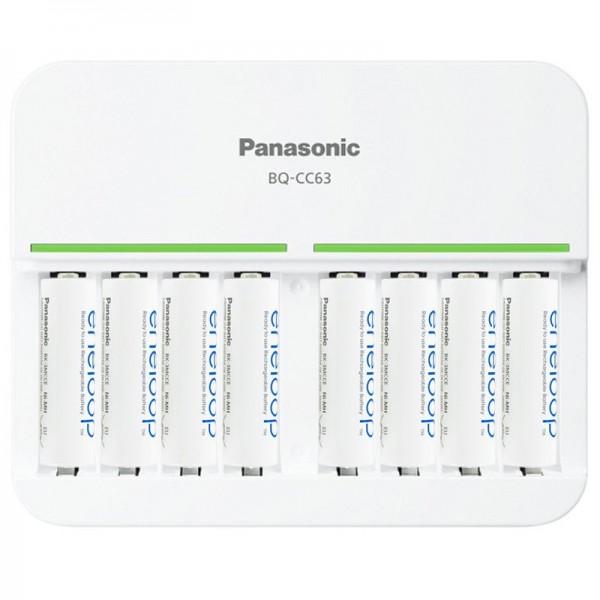 Chargeur rapide Panasonic à 8 vitesses et pack de 8 eneloop Mignon AA BK-3MCC