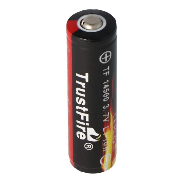 Cellule Li-Ion protégée Trustfire 14500 900mAh 3,7 V (Flamme)