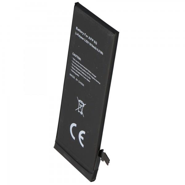 AccuCell batterie compatible avec la batterie Apple iPhone 6 pour installation autonome