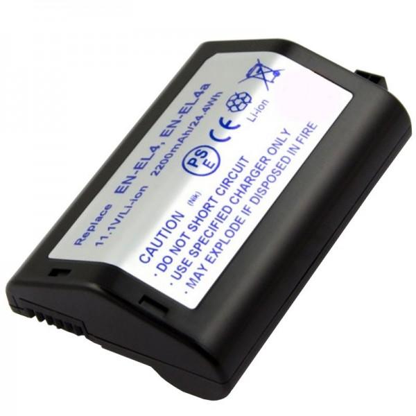 AccuCell batterie convient pour Nikon EN-EL4 batterie, F6, D2H, D2X, D3, D3X
